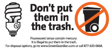 Don't throw away your CFL - Recycle